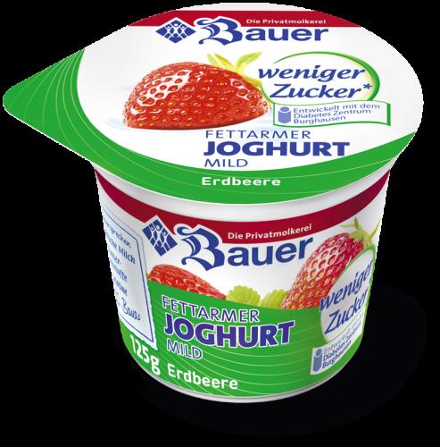 joghurt mild erdbeere weniger zucker 125g. Black Bedroom Furniture Sets. Home Design Ideas