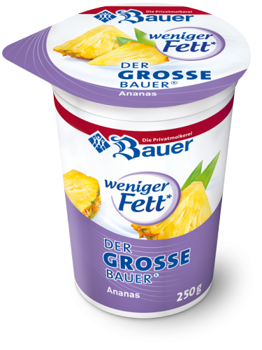 DER GROSSE BAUER Pineapple less fat 250g
